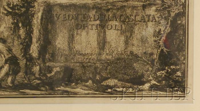 Giovanni Battista Piranesi (Italian, 1720-1778)      Veduta della Cascata di Tivoli