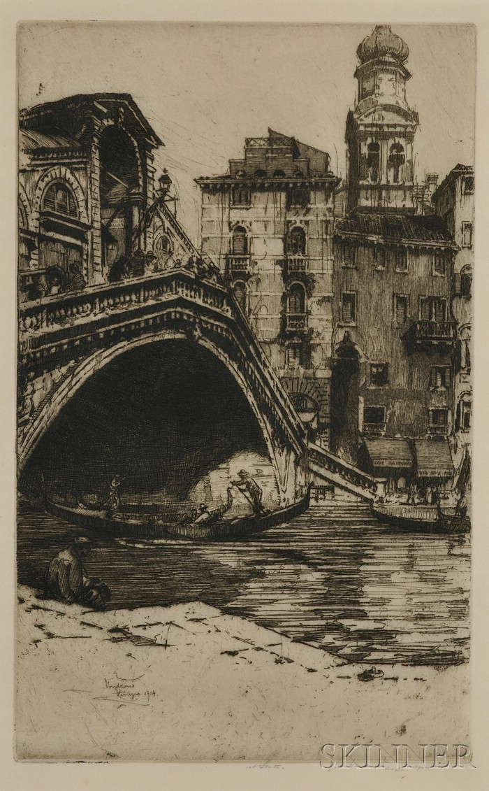 Jan (John) C. Vondrous (American, 1884-1956 )      Venezia