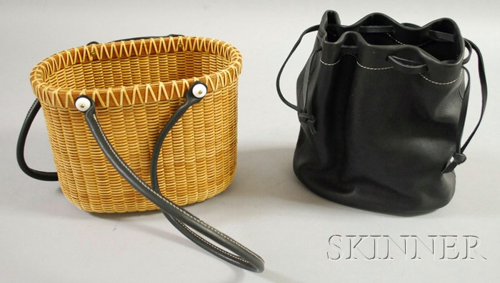 Woven Cane Nantucket Basket-type Purse