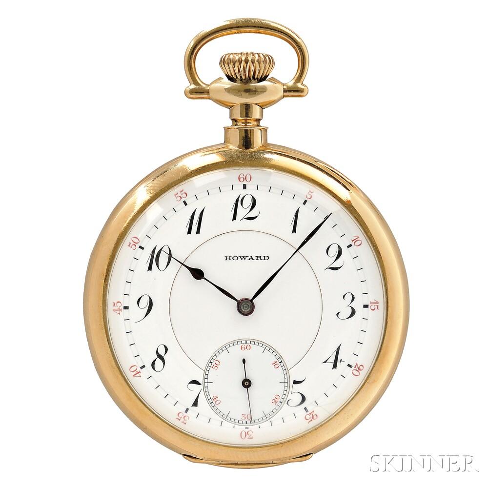 E. Howard & Company 18kt Open Face 23-Jewel Watch
