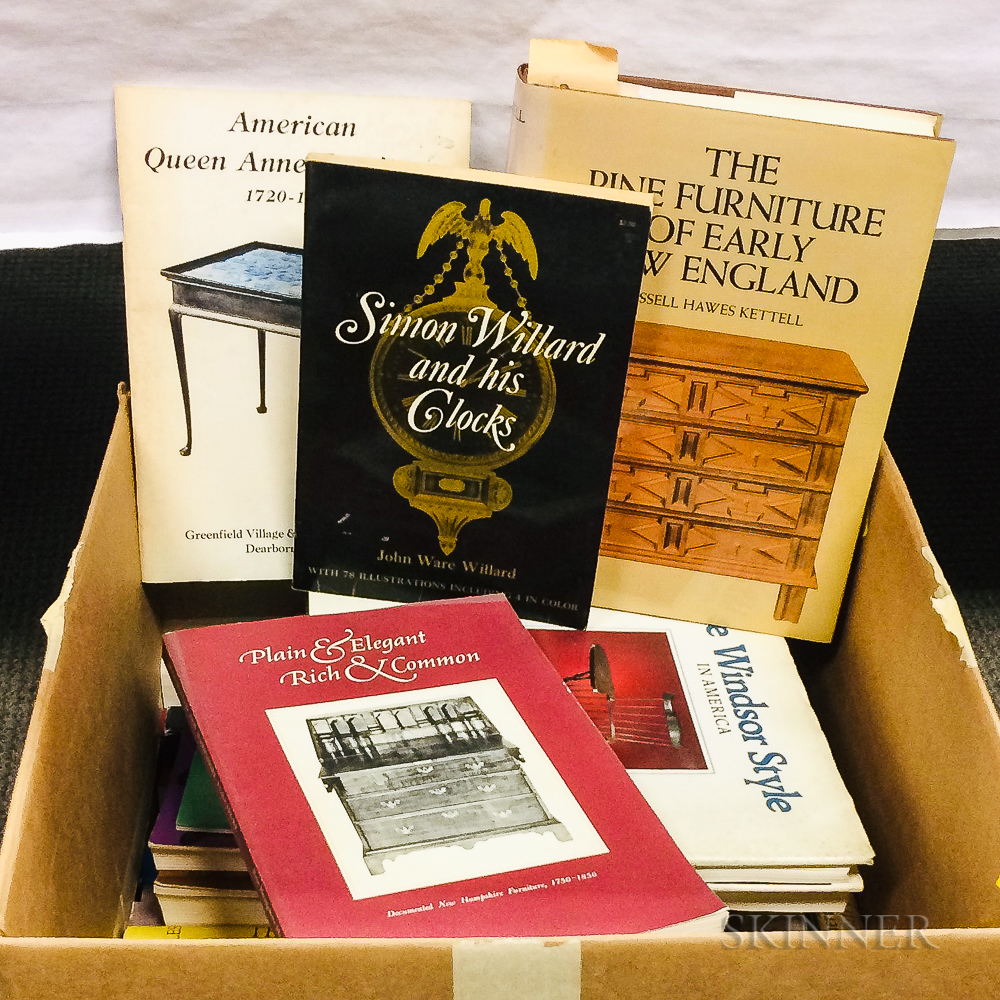 Box of Books on American Furniture.     Estimate $20-200