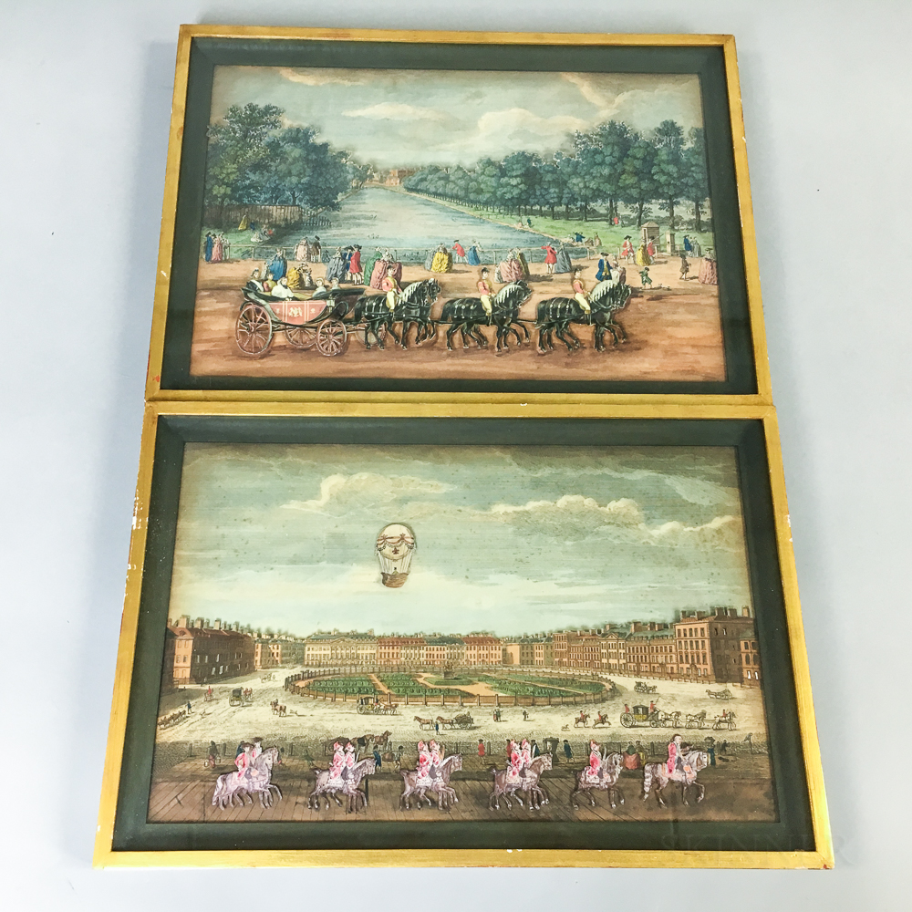 Two Framed Cut Engravings in Shadow Boxes