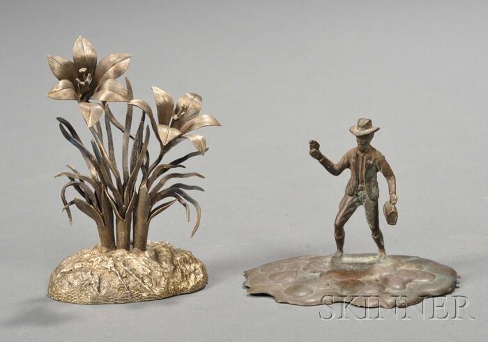 Tiffany Figure and  Miniature Daylilies