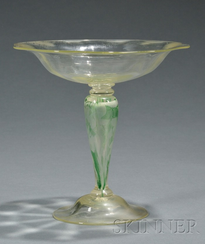 Art Glass Footed Compote