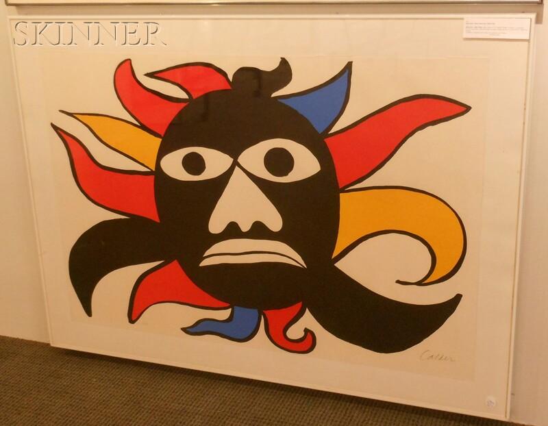 Alexander Calder (American, 1898-1976)      Black Sun - Black Man