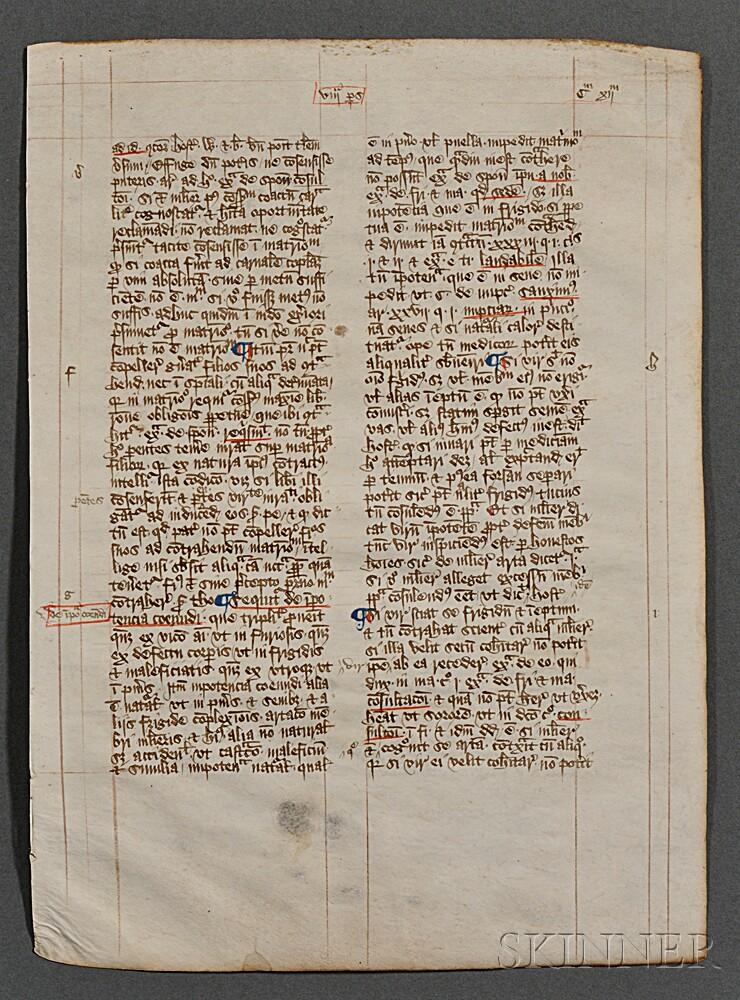 Manuscript Leaves on Parchment.