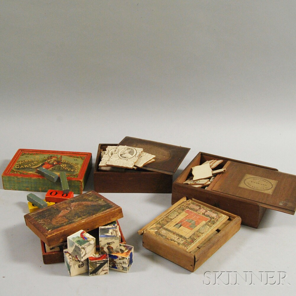 Small Group of Toy Blocks and Puzzles