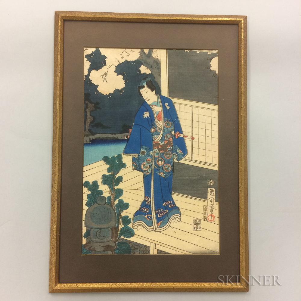 Toyohara Kunichika (1835-1900) Woodblock Print