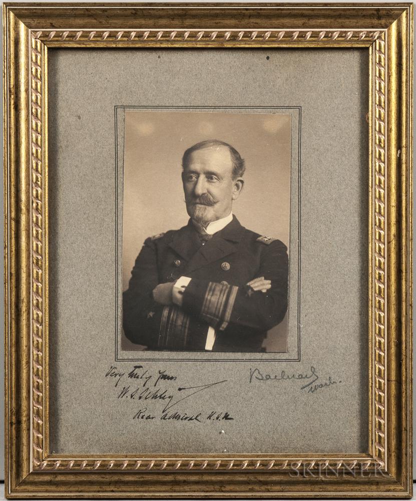 Schley, Rear Admiral Winfield Scott (1839-1911) Signed Photograph.