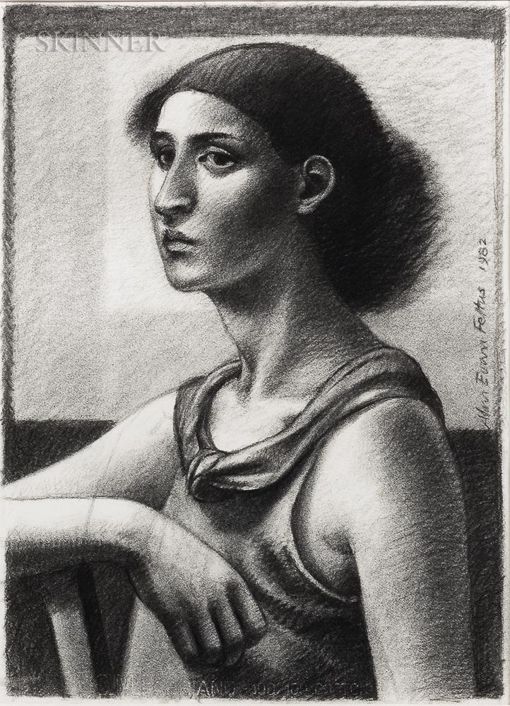 Alan Feltus (American, b. 1943)      Woman with Scarf