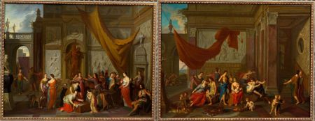 Continental School, 19th Century    Lot of Two Scenes: Achilles Discovered Among the Daughters of Lycomedes