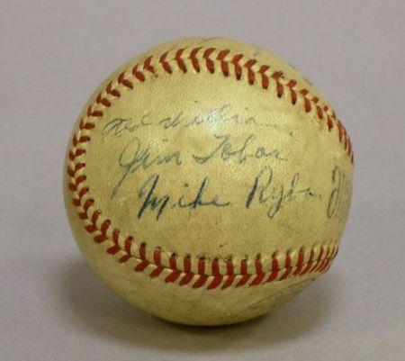 1941/1942 Boston Red Sox Autographed Baseball