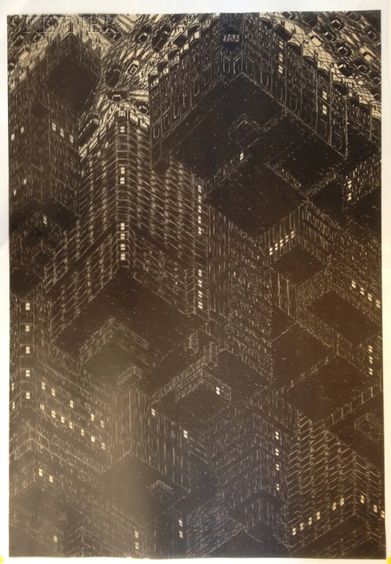 Yvonne Jacquette (American, b. 1934)      Northwest View from Empire State Building