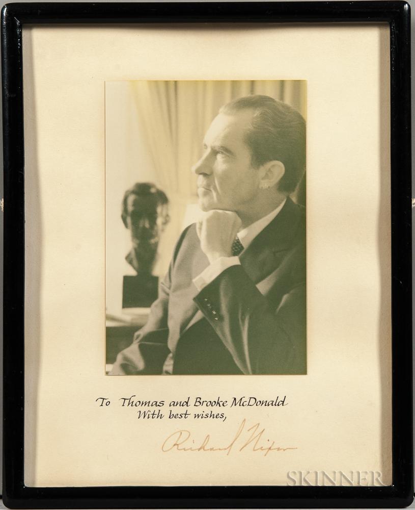 Nixon, Richard (1913-1994) Signed Photograph.