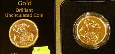 1984 and 1990 United Kingdom Five Pound Brilliant Uncirculated Gold Coins