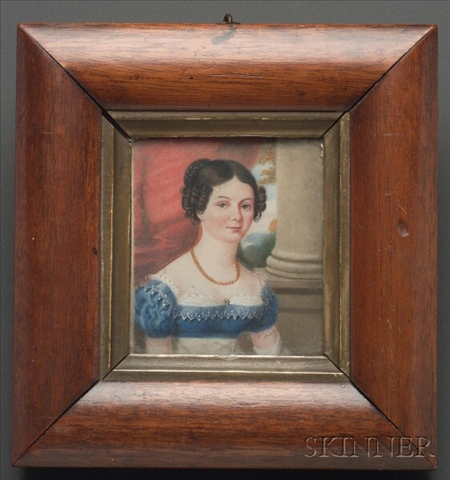 Portrait Miniature of Mary Ross Haverfield, Wife of Captain R.L. Haverfield