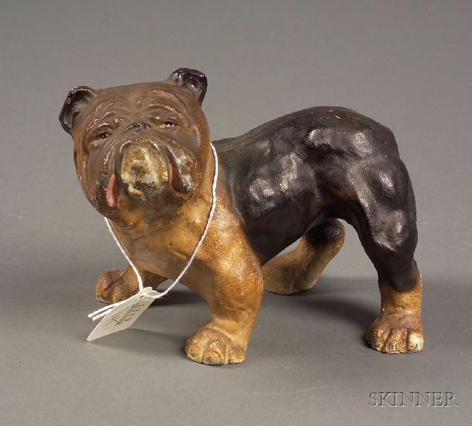 Painted Cast Iron Figure of a Bull Dog