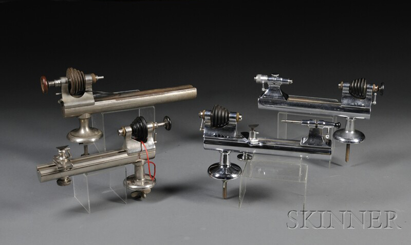 Four Watchmaker's Lathes of Various Manufacture