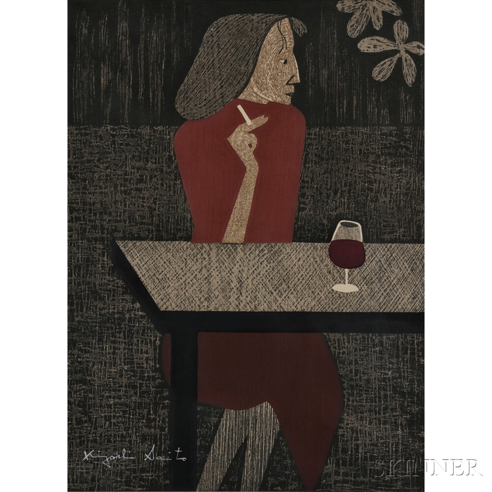Kiyoshi Saito (1907-1997), Resting Paris