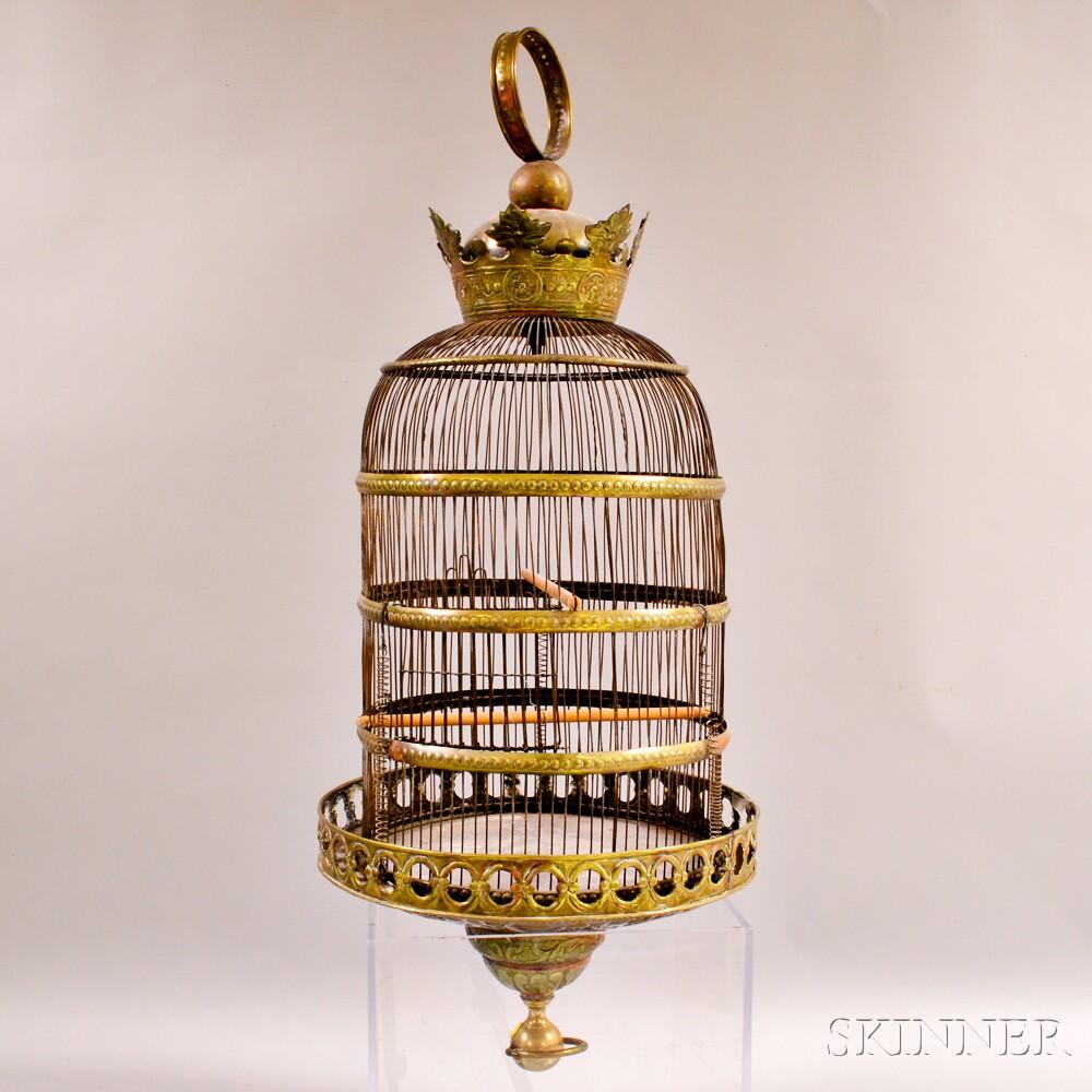 Victorian Brass Birdcage