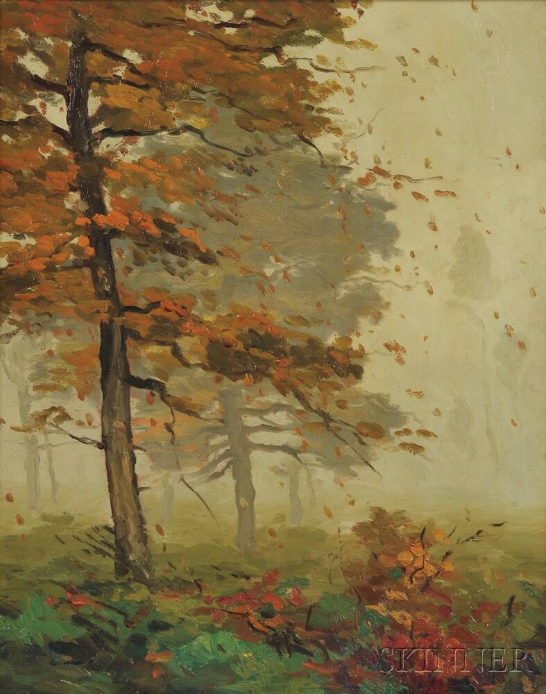 Jonas Lie (American, 1880-1940)      Woods in Fog