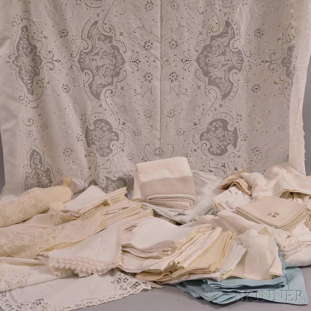 Group of Antique Linen Textiles