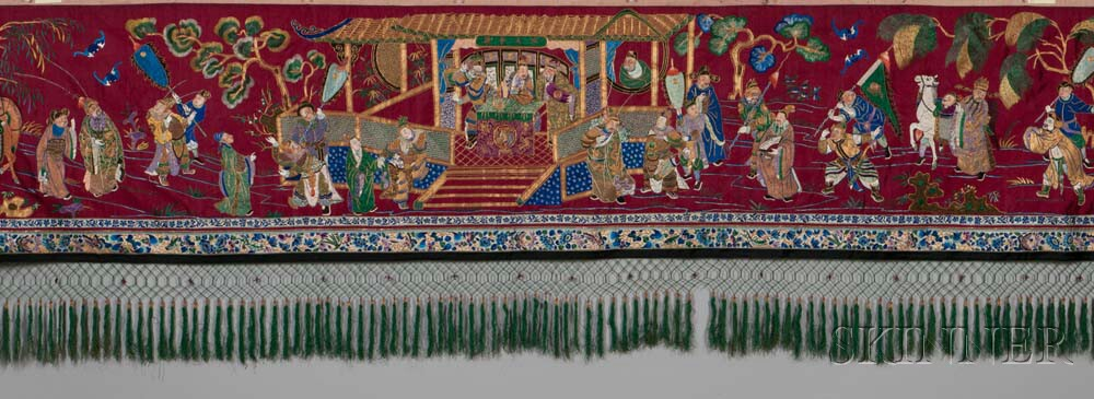 Embroidered Hanging Valance