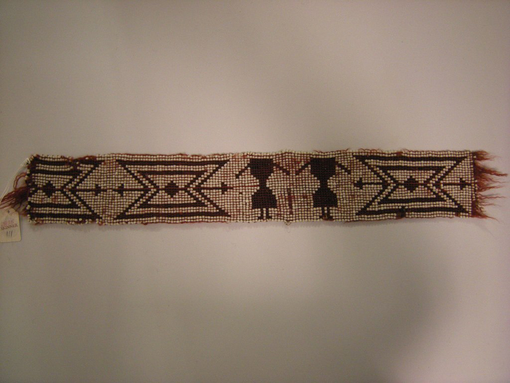 Great Lakes Pony Beaded Wool Sash Remnant