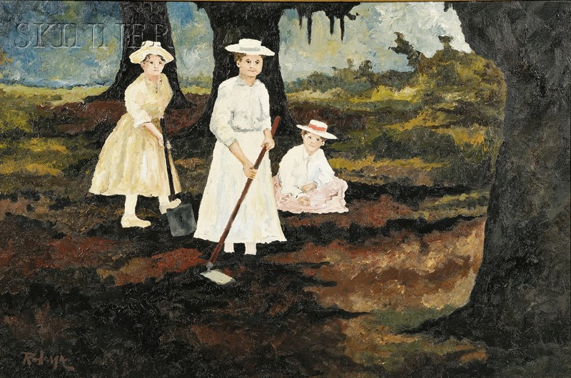 George Rodrigue  (American, b. 1944)      Cajun Farmer's Daughters