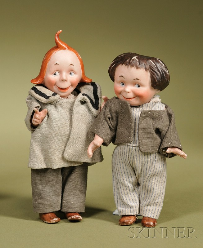 Kestner All-Bisque Max & Moritz Character Dolls