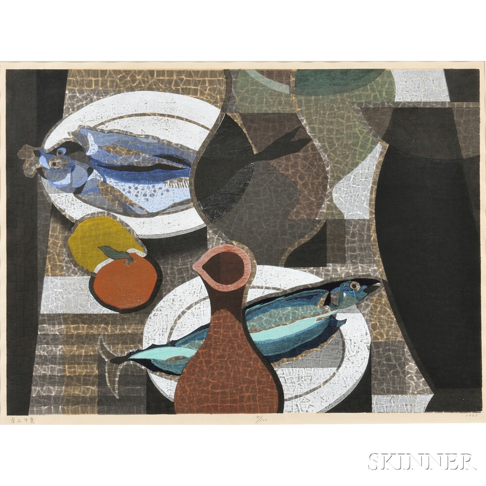 Mabuchi Toru (1920-1994) Woodblock Print