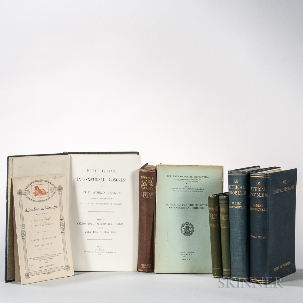 Animal Rights, Anti-Vivisection Lot, Eight Titles.