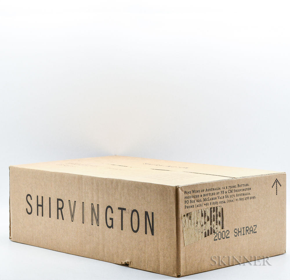 Shirvington Shiraz 2002, 12 bottles (oc)