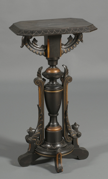 American Aesthetic Movement Ebonized and Part-gilded Pedestal