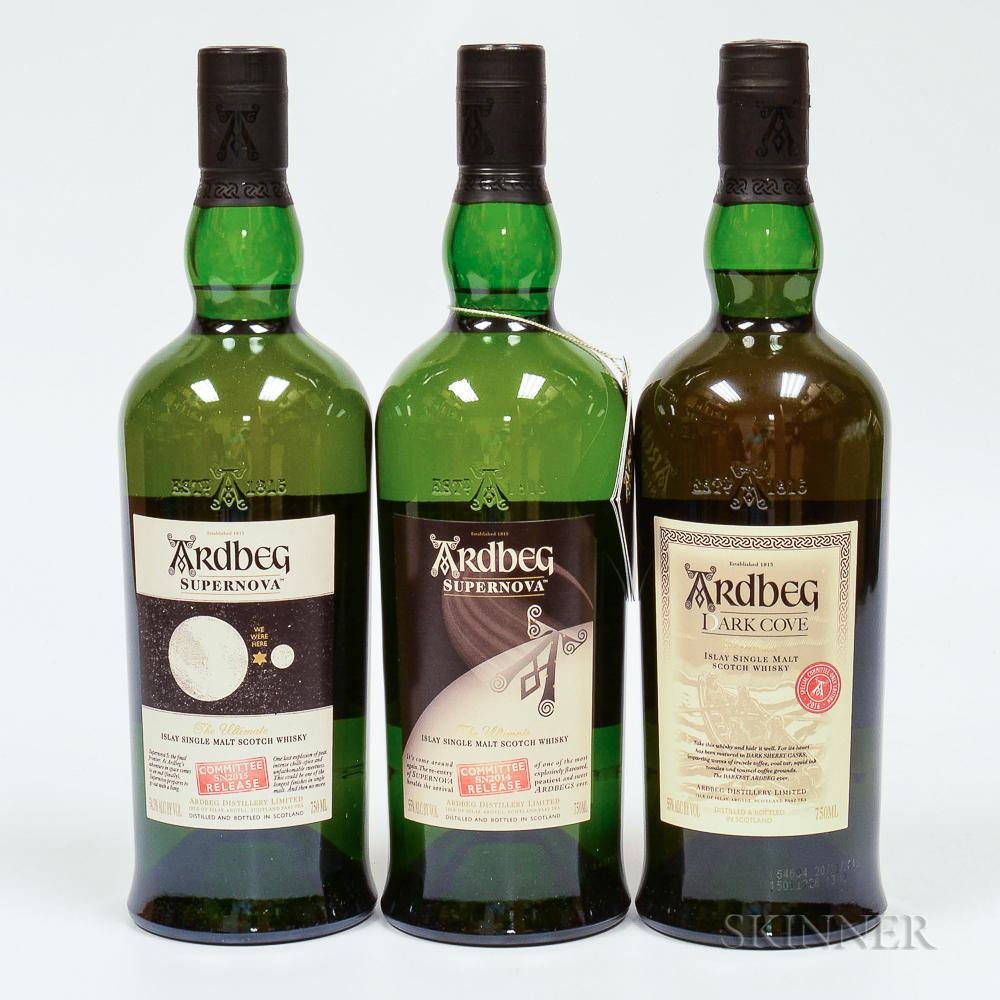Mixed Ardbeg Committee Release, 3 750ml bottles