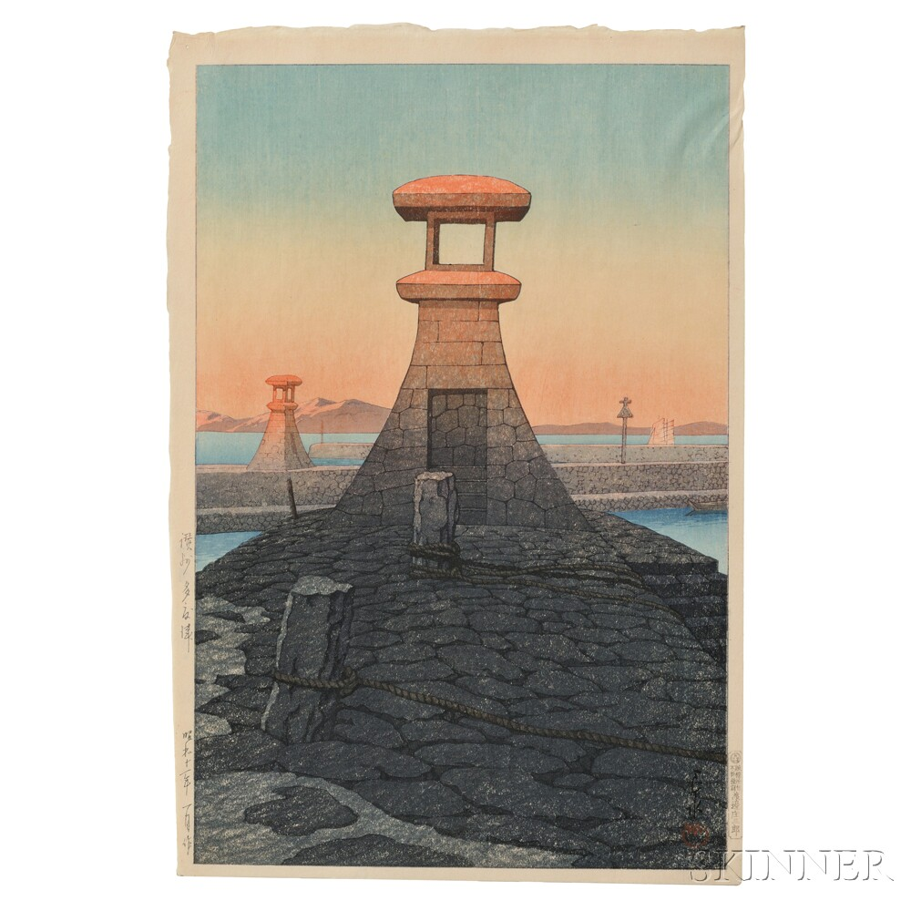 Kawase Hasui (1883-1957), Tadotsu in Sanshu
