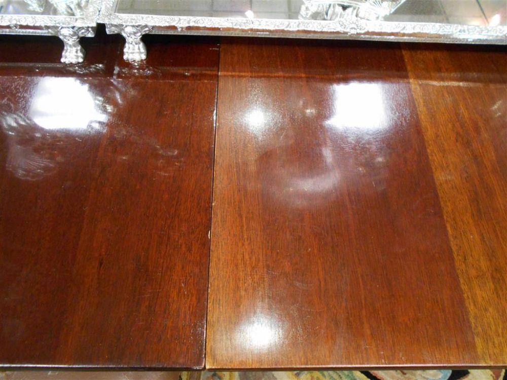 Regency-style Mahogany Three-pedestal Dining Table
