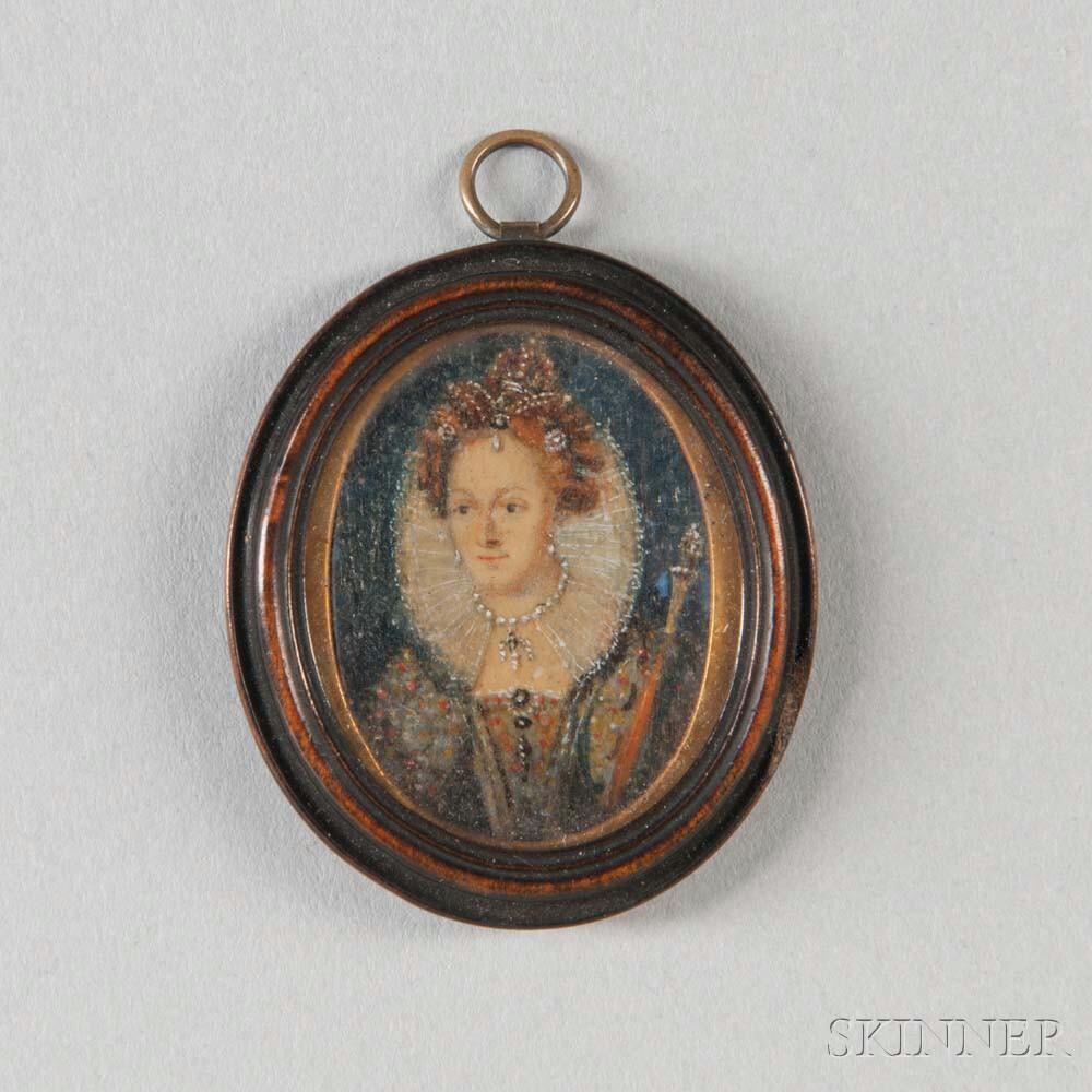 Portrait Miniature of Queen Elizabeth I