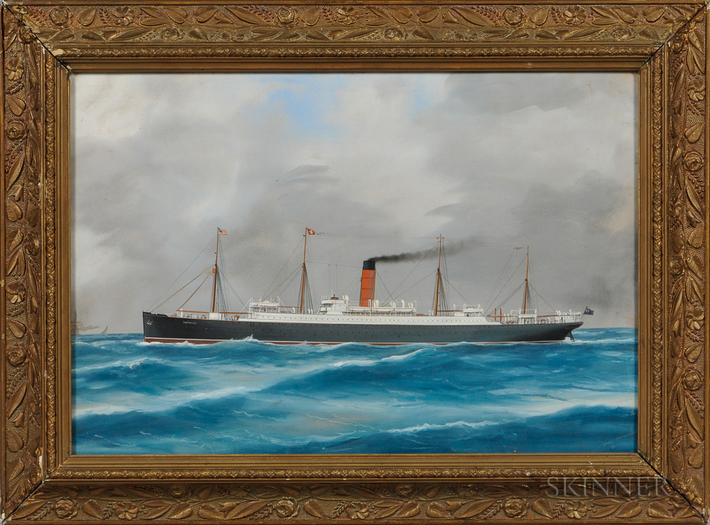 American/Italian School, Late 19th Century      Portrait of the Steamer Carpathia