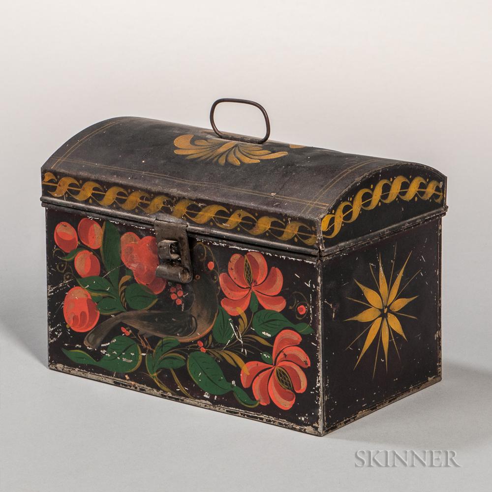 Painted Tin Document Box