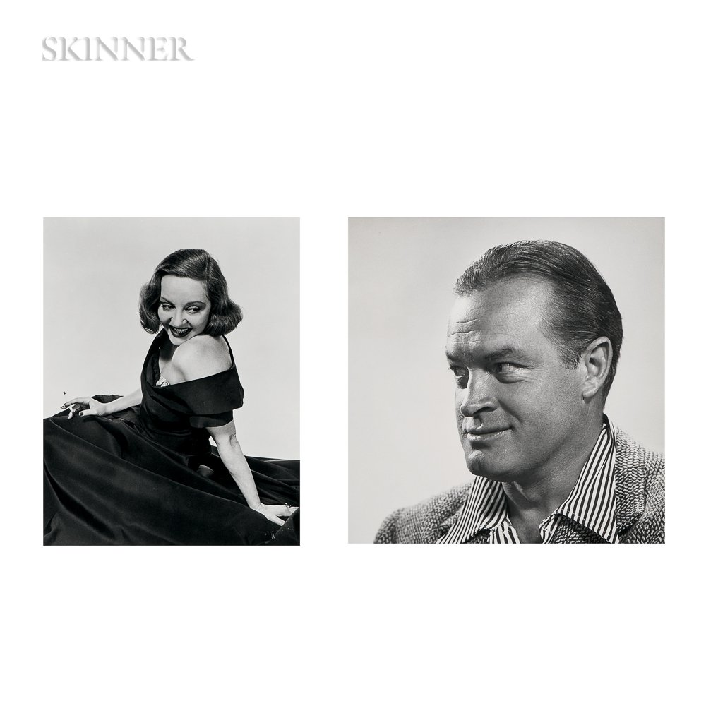 Philippe Halsman (American, 1906-1979)      Four Works: Portraits of Bob Hope, Tallulah Bankhead, John F. Kennedy