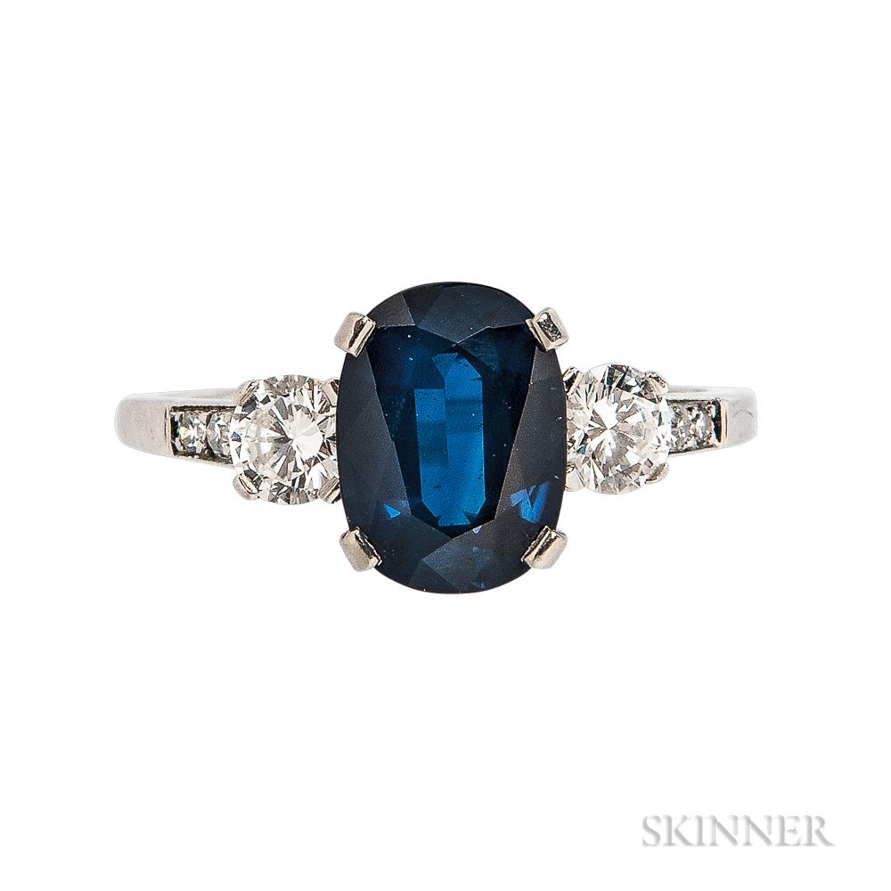 Platinum, Sapphire, and Diamond Ring, Tiffany & Co.