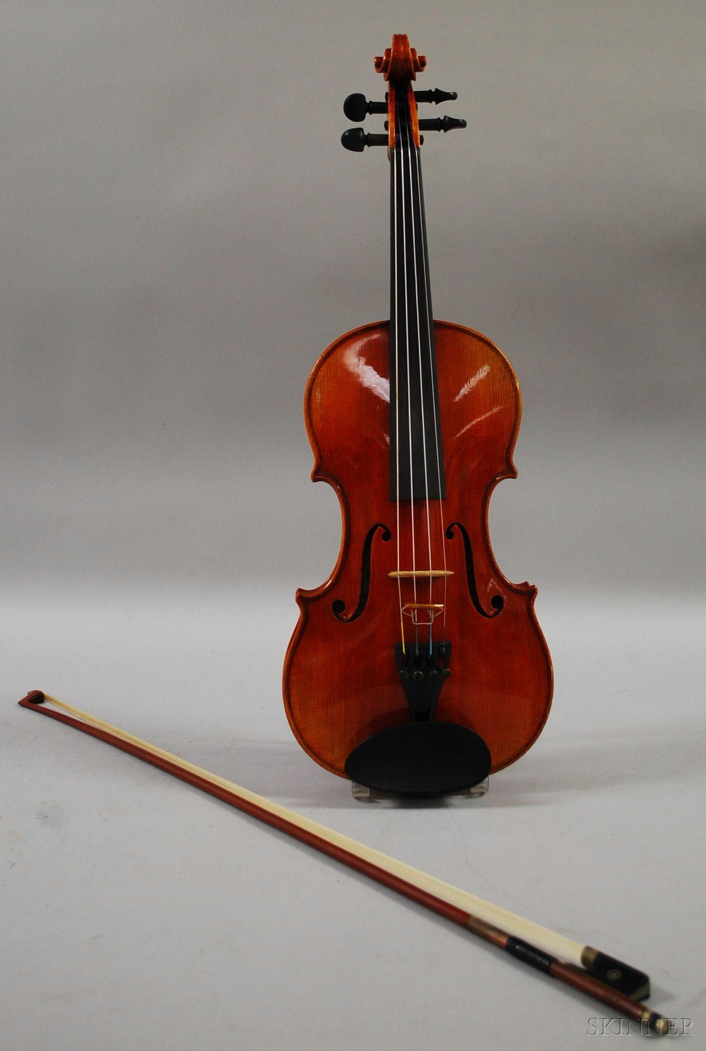 German Violin, Roman Teller, Erlangen, c. 1970
