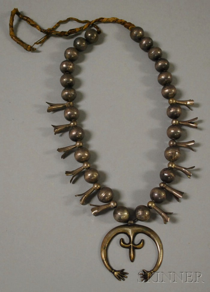 Silver Squash Blossom Necklace