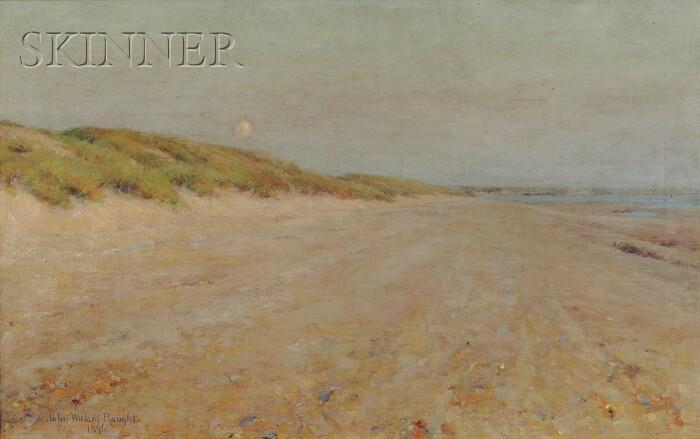 John Willard Raught (American, 1857-1931)      Evening - Coast of Picardy