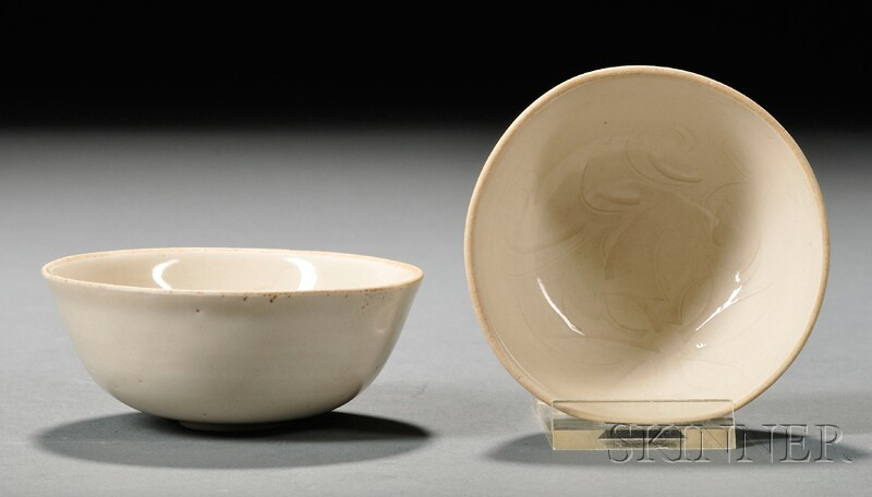 Two White Ware Bowls