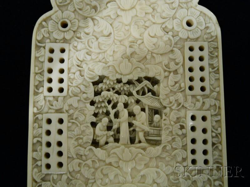 Ivory Cribbage Board