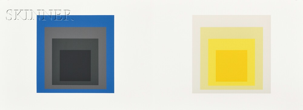 Josef Albers (German/American, 1888-1976)      Twenty-five Folders from the Double Portfolio FORMULATION: ARTICULATION