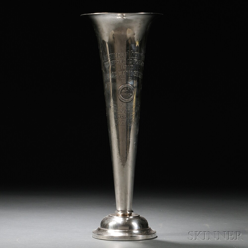 Mauser Sterling Silver Larchmont Yacht Club Trophy Vase