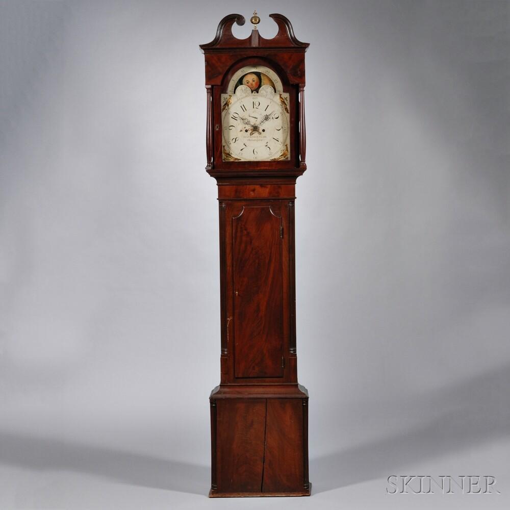 Benjamin & Ellis Clark Mahogany Tall Clock